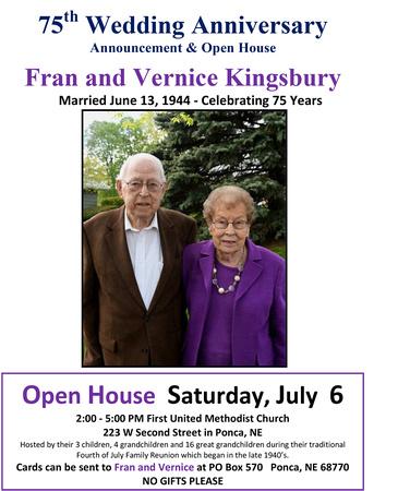 Kingsbury's 75 Anniversary  Open House