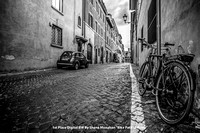 "1st Place Digital BW By Shane Monahan - ""Bike Path in Rome"""