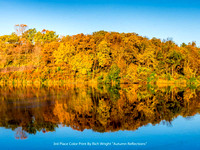 "3rd Place Color Print By Rich Wright ""Autumn Reflections"""
