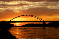 "HM, By Jerry Weiershauser, ""Vets Bridge Sunset"""