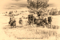 "HM Digital B&W By Douglas Conrad ""Stagecoach Raid"""