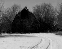 "HM B&W Print By Norton Evans ""Old Barn"""