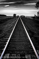 "3rd Place Digital B&W By Mike Griener ""Light Rails"""